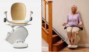 130 stairlift seated