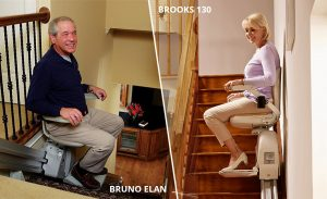 Bruno Elan Stairlift and Brooks 130 Stairlift By Acorn at Paramount Living Aids